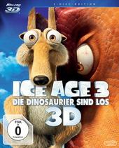 Ice Age 3 - Die Dinosaurier sind los (Blu-ray 3D, + Blu-ray 2D) Filmplakat