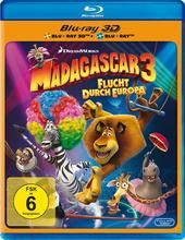 Madagascar 3: Flucht durch Europa (Blu-ray 3D, + Blu-ray 2D) Filmplakat