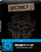 District 9 (SteelBook, Project PopArt) Filmplakat