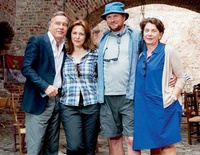 Spanien in Spandau: Produzent Nico Hofmann, Martina Gedeck, Hauptdarsteller Devid Striesow und Kirsten Niehuus (Filmförderung) (Foto: Warner)